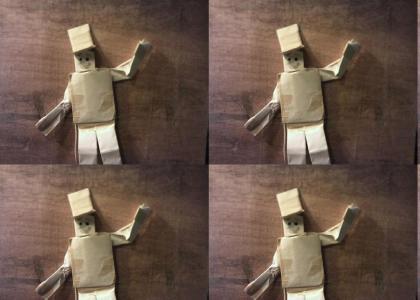 Masking tape action figure