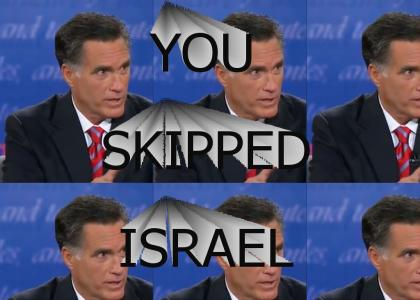And by the way, you skipped Israel
