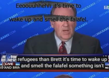 Mike Huckabee would rather be having falafel