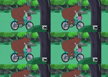 Adventuring Bear on Bike