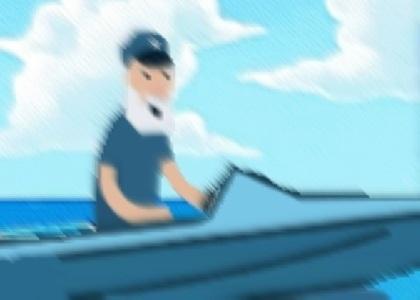 Captain Downvotes Water Ski Fun